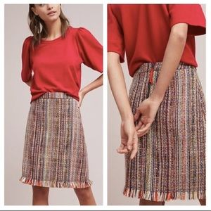 Anthropologie Maeve tweed a line skirt size 4